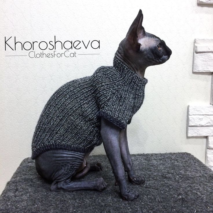Cat black and white sweater size S knitting pattern The ...