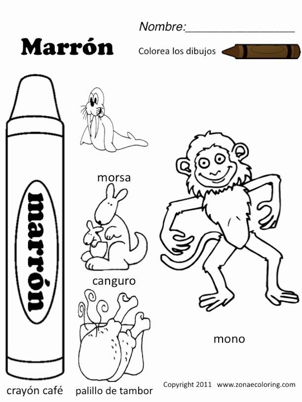 Coloring Book In Spanish Fresh Worksheets In Spanish Pages Coloring Pages Color Worksheets Baby Coloring Pages Coloring Books