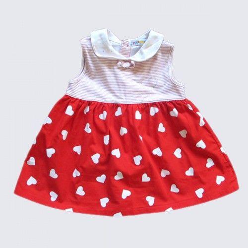 Vestido rojo con corazones