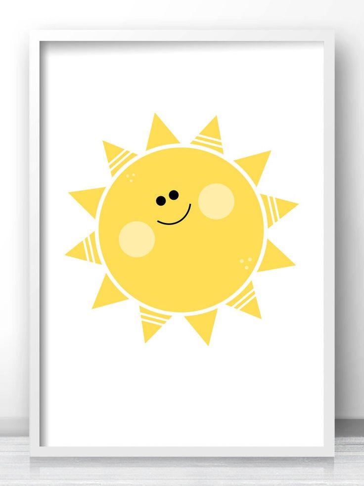 Yellow Sun Wall Decor : Best nursery and kids wall art prints by limitation