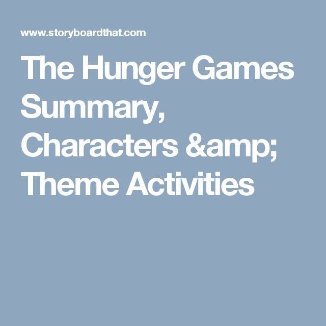 The Hunger Games Summary, Characters & Theme Activities