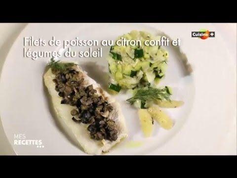 filets de poisson au citron confit et légume du soleil