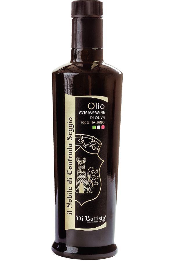 Olio extravergine di oliva 'Nobile di C.da Seggio'. Disponibile su: http://www.dibattistaoli.com/shop/olio/nobile-cda-seggio/