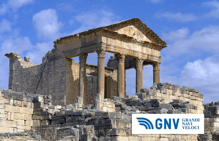 This capitol is a #temple dedicated to the gods #Jupiter, #Juno and #Minerva. #Roman #ruins in #Dougga, #Tunisia, #North Africa. Discover #GNV routes from/to#Maghreb here: www.gnv.it/en/