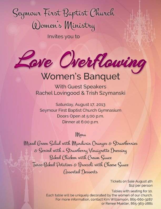 invite idea: women's banquet | women's ministries ideas ...