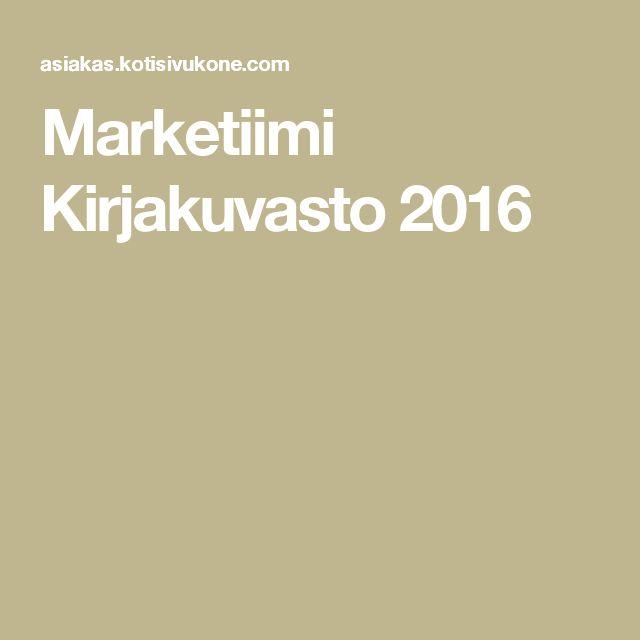 Marketiimi Kirjakuvasto 2016