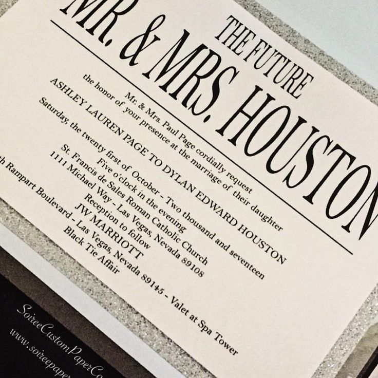 Wedding invitation in charcoal and gray with