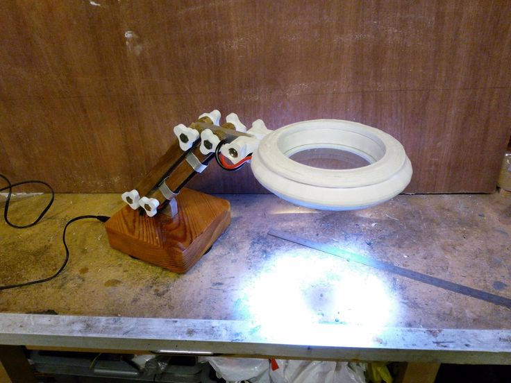 homemade lighting. homemade magnifier lamp constructed from surplus aluminum wood and parts lighting