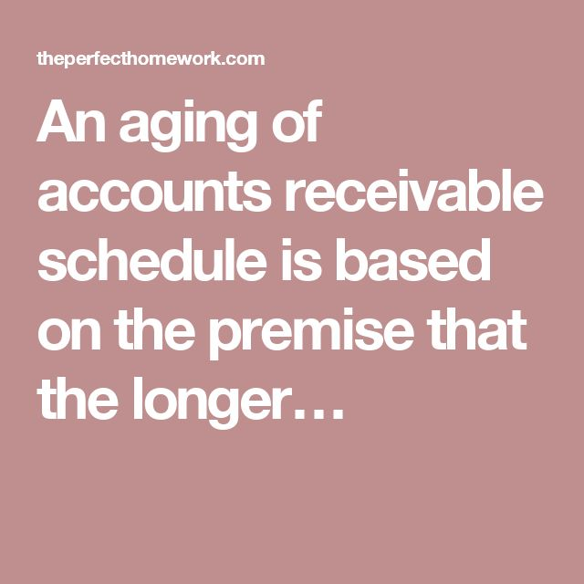 aging schedule of accounts receivable example