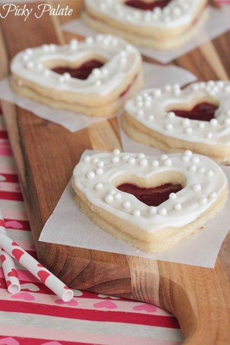 Valentine Shortbread Cookie Sandwiches