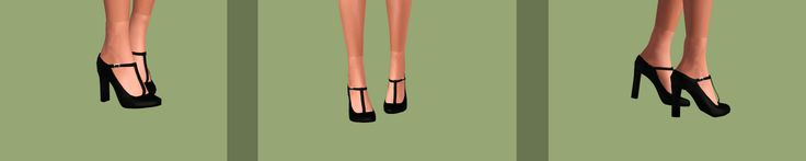 High Heels Collection:Additional information: -5 shoes in total. -Adult females~Young Adult females. -Fully re-colorale. -Compatible with accessory socks/stockings. -Re-colorable nails. -You should...