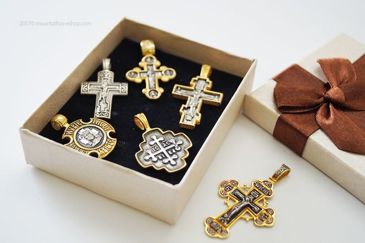 Unique designs in the silver and golden crosses. Ideal for the neck, for a baptismal gift as well as for your loved ones. Discover our large and original collection #silver #crosses #neck #cross #gold #gift #monastic #handiwork #handmade #mount #athos #mt #athos #σταυρουδάκια #λαιμού #άγιο #όρος #εκκλησιαστικά #είδη #μοναστηριακά #αγιορείτικα #κοσμήματα