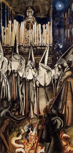 Collection REPRODUCTION REQUESTS  Edward Burra (England 26 Mar 1905–22 Oct 1976)  Title Holy Week: Seville Other titles: Holy Week in Seville Year 1937 Media category Watercolour Materials used watercolour over pencil and black chalk