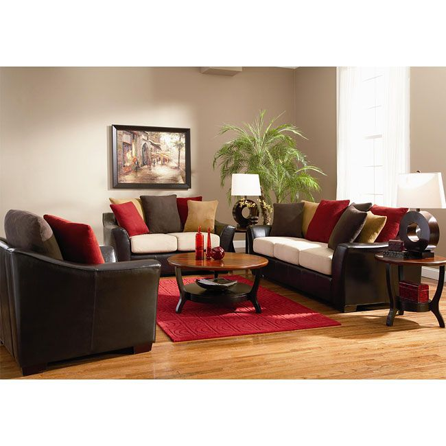 10 best BROWN SOFAS images on Pinterest Living room colors - red and black living room set