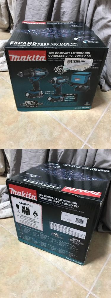 Combination Sets 177000: Makita Ct225r 18V Compact Lithium-Ion Cordless 2-Piece Combo Kit (2.0Ah) -> BUY IT NOW ONLY: $189.99 on eBay!