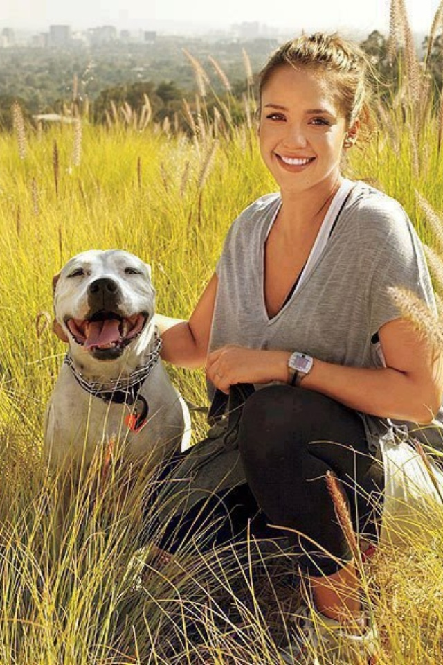 My girl crush and a pitbull...doesn't get much better than that