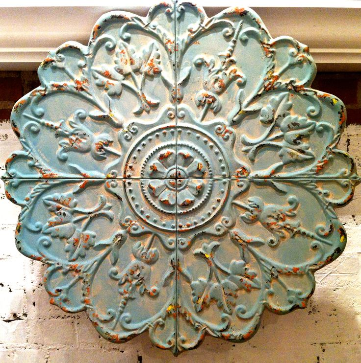 Antique Tin Ceiling Tiles , Rustic Wall Deco