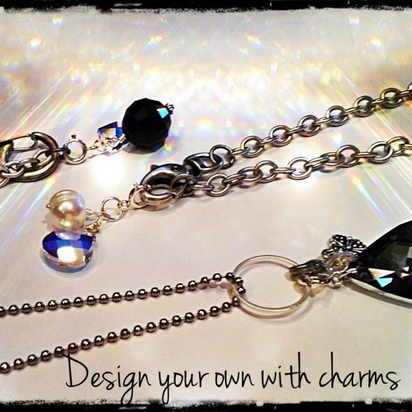 design your own chains, charms added