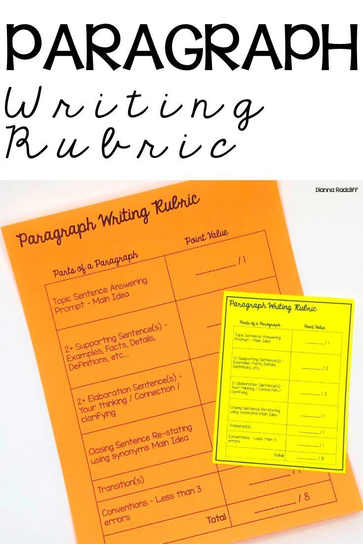 Paragraph Writing Rubric | Teaching: Writing | Paragraph