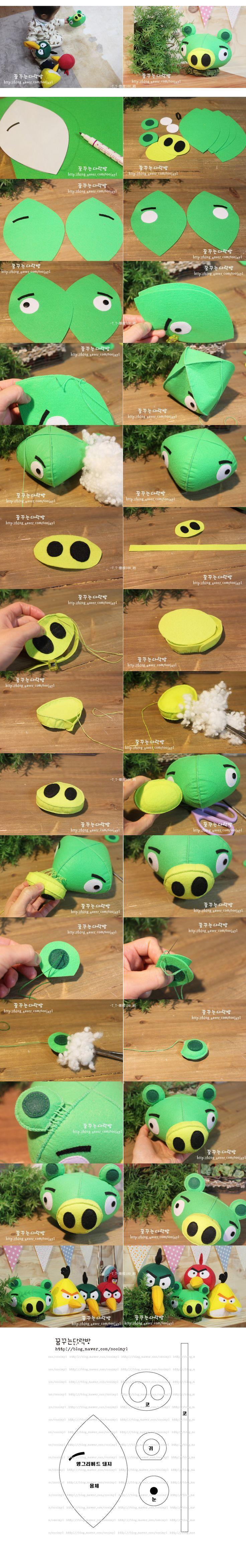 green angry bird