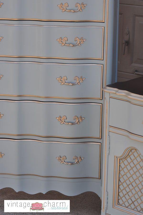 Benjamin Moore Nimbus Gray Bedroom Furniture Makeover- Part 1  – Kids room