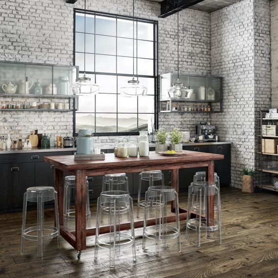 15 Fancy Industrial Shabby Chic Collection Decor Dining Table