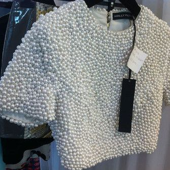 Black Women Wearing Pearls | pearls white tank top pearl crop tops blouse top white crop top style ...