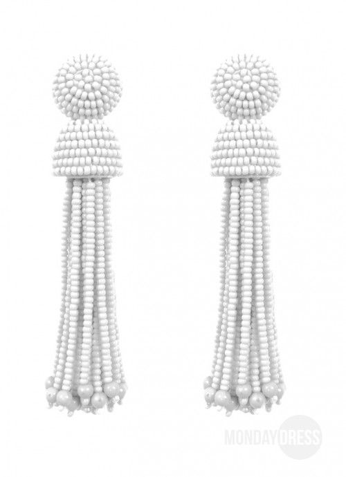 Wait For Love White Tassel Earrings | Monday Dress Boutique