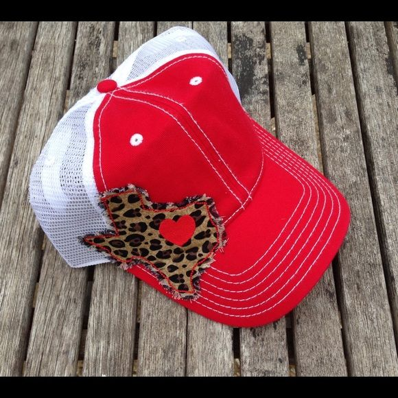 Texas Trucker Hat leopard print Texas shaped patch on Trucker Hat. Mesh back and adjustable. NEW, No Tags, never worn. Accessories Hats