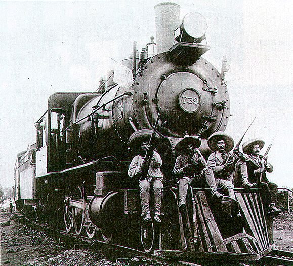 """Mexican Revolution - My dad's family grew up on the """"ferrocarril"""". :D Miss him <3"""