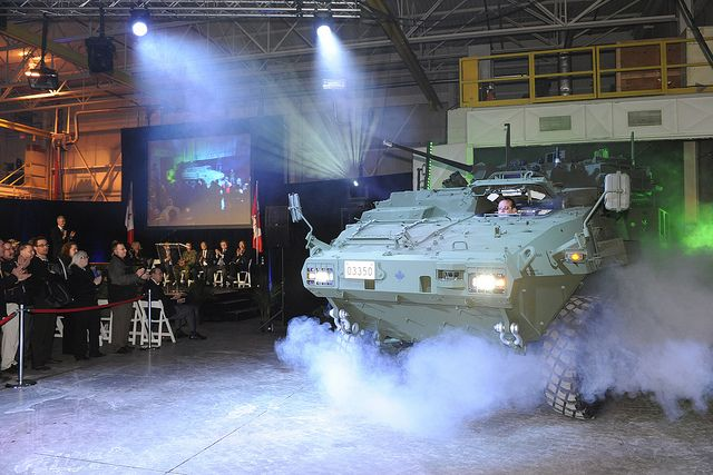 LAV III Upgrades  The Department of National Defence receives the first modernized LAV III from General Dynamics Land Systems Canada in London, Ontario on January 24, 2013. #StrongProudReady