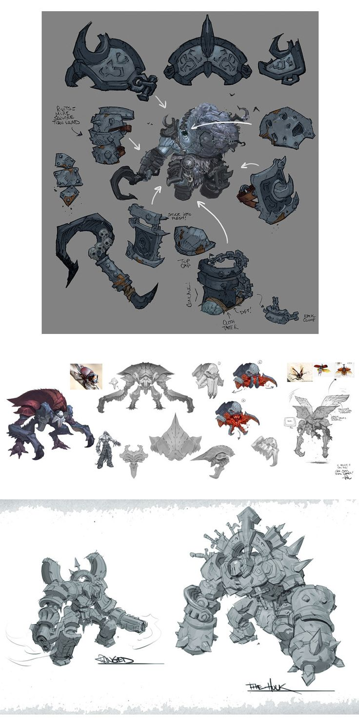 Designs de Paul Richards para o game Darksiders II | THECAB - The Concept Art Blog