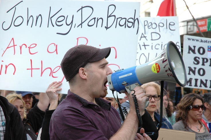 #Objection #Opposition #Disapproval #Resistance #Confrontation #Demonstration #Protest_march #aucklandnz #new_Zealand #newzealand #johnkey #donbrash