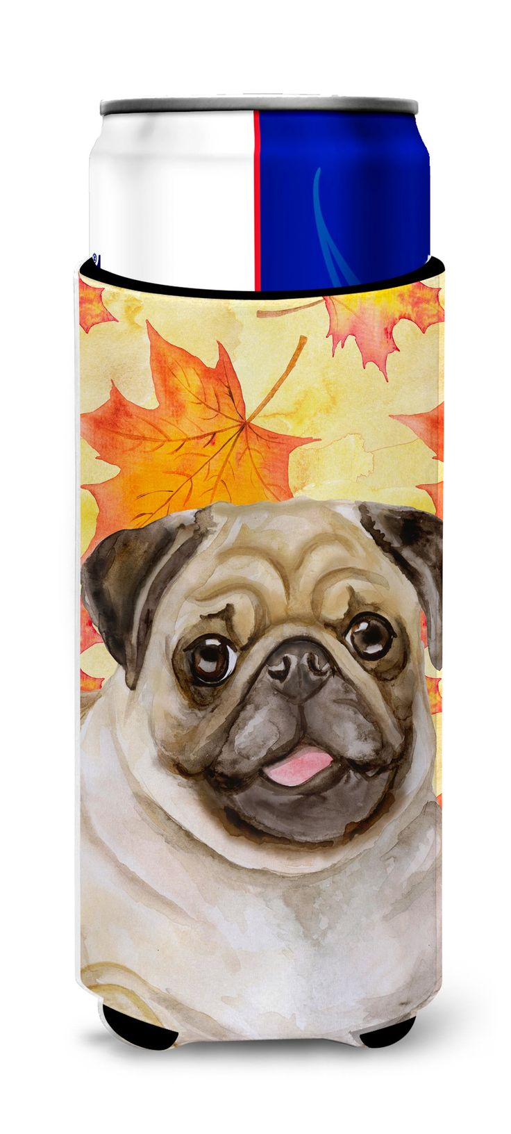Fawn Pug Fall Michelob Ultra Hugger for slim cans BB9979MUK