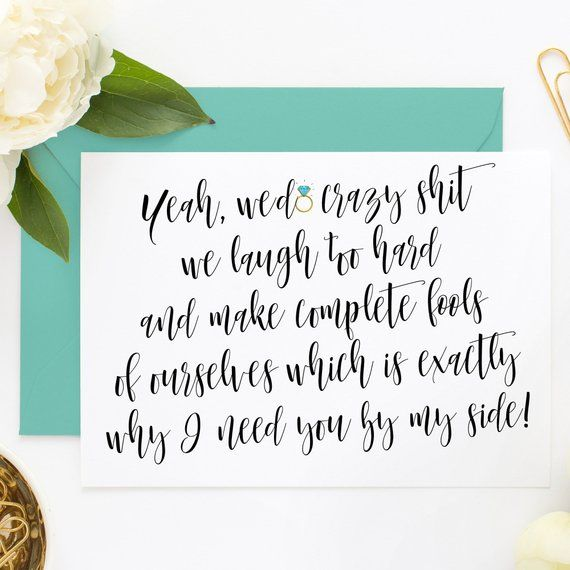 Funny Bridesmaid Cards, Funny Asking Cards, Be My MOH