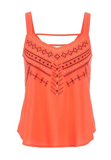 tank with embroidery and double bar back (original price, $29) available at #Maurices