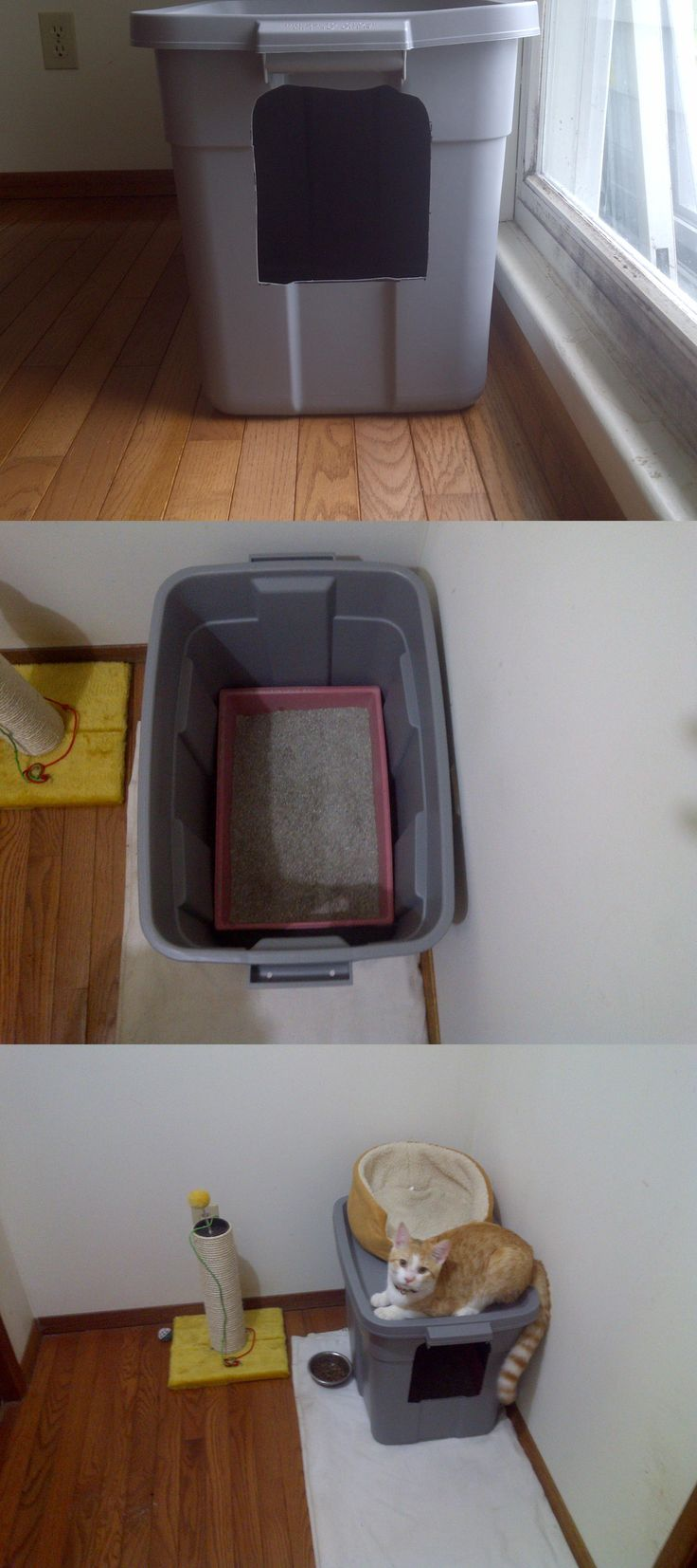 No-mess cat litter box -- sooo looking forward to not having litter all over…