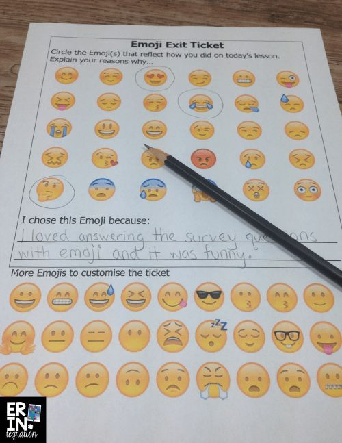 10 ways to utilize emojis in the classroom - includes FREE downloads (including the exit ticket shown!) and tons of ideas!