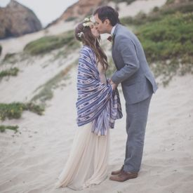 Stunning and totally eco-friendly, this bohemian wedding in Big Sur has our hearts.
