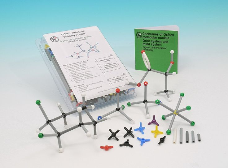 Excellent study aid - Includes instruction booklet with activities  Easy-to-use, durable, 3D molecular modelling system  Contains 240 atoms and 200 bonds to enable building of most commonly studied compounds