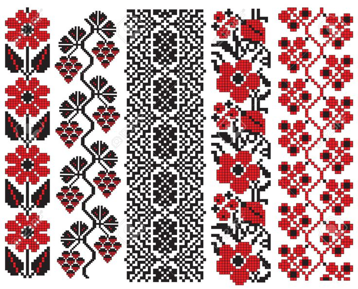 There Is A Scheme Of Ukrainian Pattern For Embroidery Royalty Free Cliparts, Vectors, And Stock Illustration. Pic 6514084.