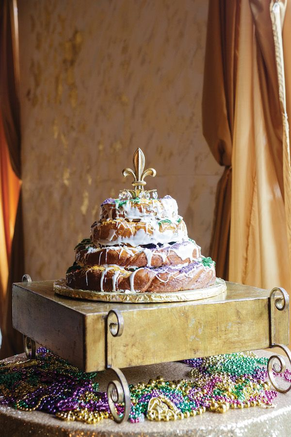 King cake groom's cake | Greer Gattuso