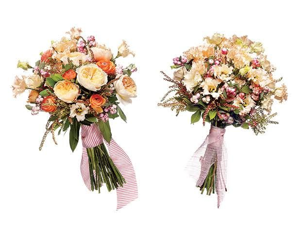 Save vs. Splurge Wedding Bouquets, Creamy Pastel Flowers