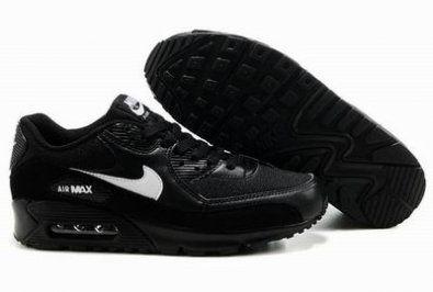 Nike Air Max 90 zapatillas de negro / blanco http://www.esnikerun.com/