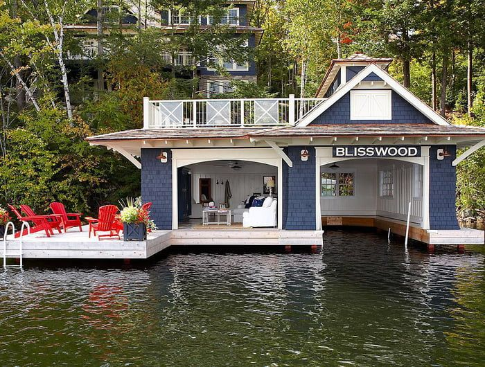 Blisswood in 2020 | House boat, Lake cottage, Floating house