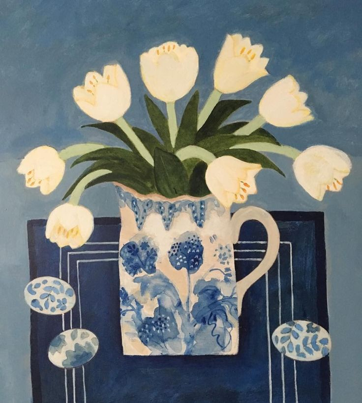 #tulips #blue&white #china #eggs #Easter #exhibition #RBA #RWS
