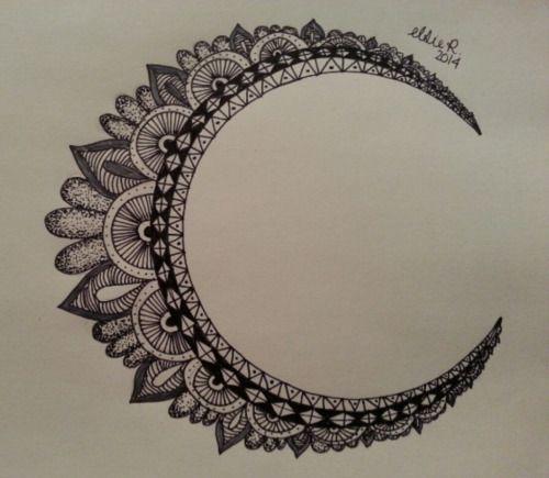 17 mejores ideas sobre Tatuajes De Luna en Pinterest : Tatuajes de luna creciente tatuajes ...