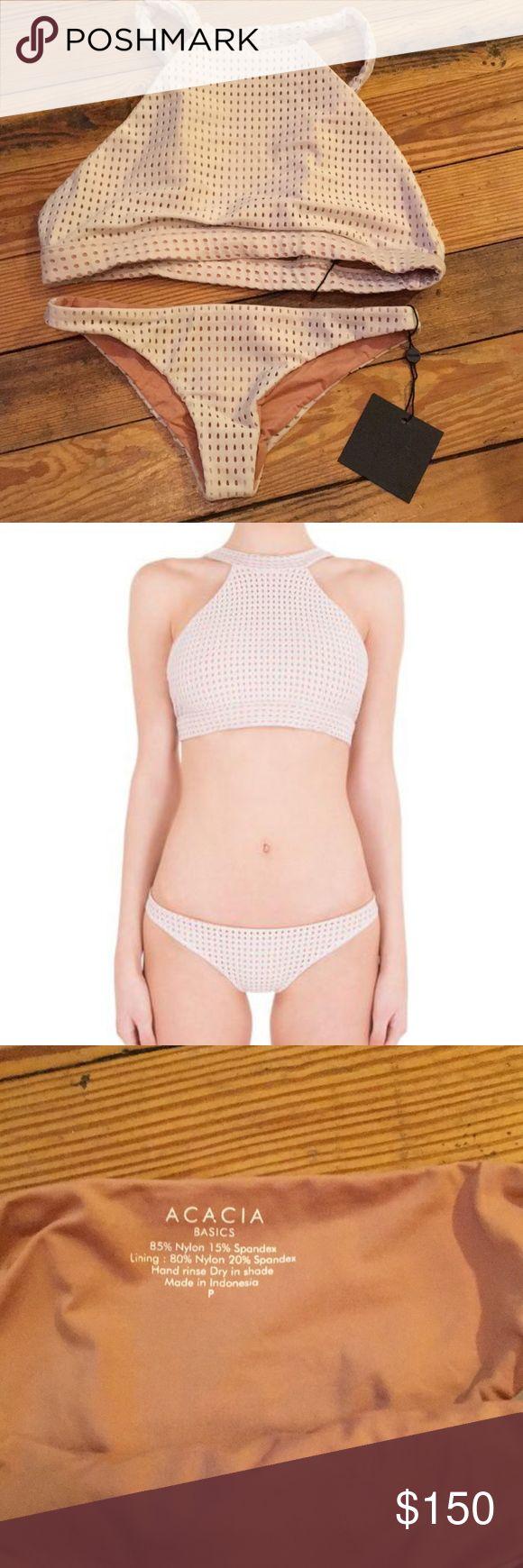 ACAICA SET #19160 Large top Petite Bottoms Color : Foam acacia swimwear Swim Bikinis