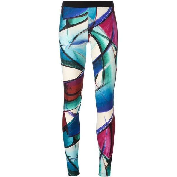 Fausto Puglisi hand painted effect leggings ($166) ❤ liked on Polyvore featuring pants, leggings, multicolor, multi color leggings, multi coloured leggings, spandex pants, multi colored leggings and lycra pants