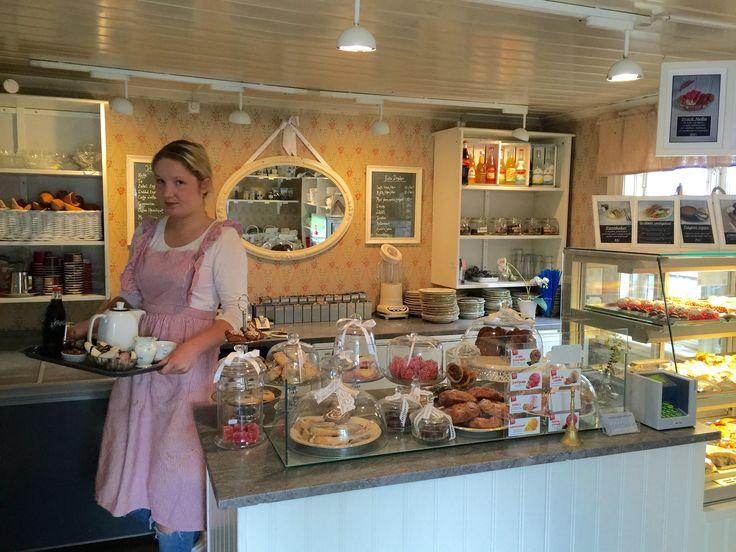 Emeli's Cafe at Limtorget, old town, Lidköping.